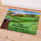 Personalized Golf Welcome Doormat