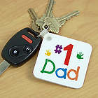 Personalized Number One Key Chain