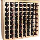 Wooden 64 Bottle Deluxe Cabinet Style Wine Rack