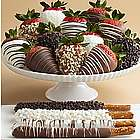 4 Dipped Pretzels and 12 Hand-Dipped Fancy Berries
