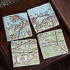 My Town Map Coasters