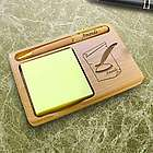 Personalized Writer Wooden Notepad and Pen Holder