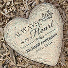 Engraved Memorial Heart Garden Stone