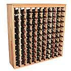 Wooden 100 Bottle Deluxe Cabinet Style Wine Rack Storage Kit