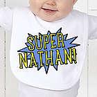 Personalized Super Hero Baby Bib