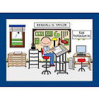Personalized Draftsman / Architect Cartoon Matted Print
