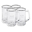 Personalized Silver Rimmed Sports Mugs