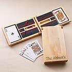 Personalized Wood Cribbage Game Set