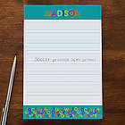 Alphabet Name Personalized Notepad