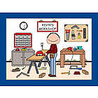 Personalized Handyman or Carpenter Cartoon Print
