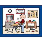 Personalized Handyman or Carpenter Cartoon Print