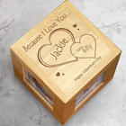Engraved Because I Love You Photo Cube