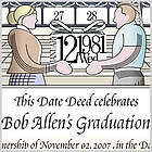 Dedicate a Day Personalized Graduation Certificate