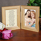 To My Sister Natural Wood Bi-Fold Personalized Picture Frame