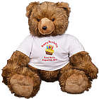 Personalized Happy Birthday Cake Teddy Bear