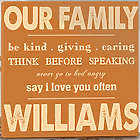 Personalized Our Family Rules Canvas Print