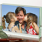 Personalized Just For Him� Glass Photo Block