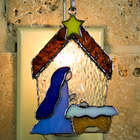 Nativity Stained Glass Ornament/Nightlight