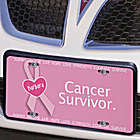 Cancer Survivor Breast Cancer Awareness License Plate