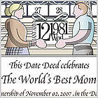 Dedciate a Day Personalized Mom Certificate