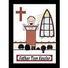 Personalized Priest Cartoon Print