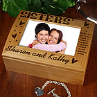 Sisters Photo Keepsake Box