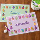 Easter Eggs Personalized Laminated Placemat