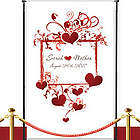 Custom Heart Frame Wedding Banner