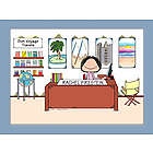 Personalized Travel Agent Cartoon Print