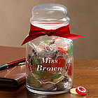 Personalized Inspiring Teacher Candy Jar with LifeSavers
