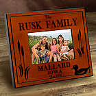 Personalized Wood Duck Cabin Photo Frame
