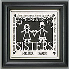 Personalized Sisters/Friends Scissor Print