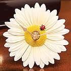Ladybug Daisy Clock