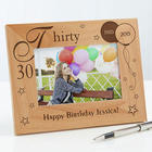 Birthday Memories Personalized Wood Frame