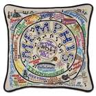 Hand Embroidered CatStudio Memphis Pillow