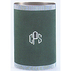 Personalized Suedecloth Waste Can