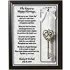 Personalized Key to A Happy Marriage Plaque
