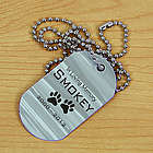 Personalized Pet Memorial Dog Tag Necklace