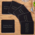 Personalized Faux Leather Drink Coasters
