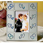 Silver Frame with Holographic Hearts Wedding Favor