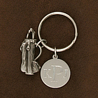Engraved Men's Golf Key Chain