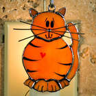 Cat Stained Glass Ornament/Nightlight