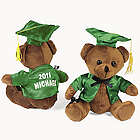 Personalized Plush Green Graduation Bear
