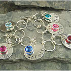 Mom's or Grandma's Personalized Hand-Stamped Charm Bracelet