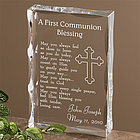 Personalized First Communion Blessing Keepsake Sculpture