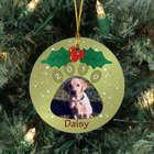 Personalized Ceramic Pet Photo Ornament