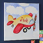 Personalized Airplane Canvas Art for Kids