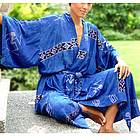 'Deep Blue Sea' Women's Batik Robe