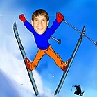 Snow Skiing Acrobat Caricature from Your Photo