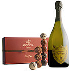 Dom Perignon and Godiva 18 Piece Signature Truffles